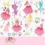 Adesivo Barbie Bailarina Princesas E Fadas