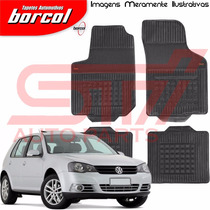 Tapete Borracha Interlagos Golf 2000 2001 2002 Borcol 4 Peçs