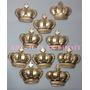 50 Coroas 3,7cm Biscuit Aplique Princesa Principe Festa