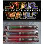 Kit Com 3 Espadas Sabre Star Wars Espacial Com Luz E Som