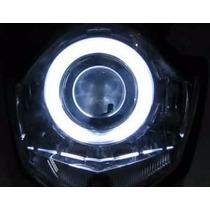Super Farol Projetor Xenon Led C/ Angel Eyes H1 H3 H4 H7 H11