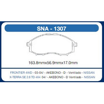 Pastilha Dianteira Frontier 4wd 04/ X-terra 4x4 Nissan