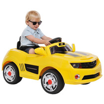 Mini Camaro Amarelo Elétrico C/ Controle Remoto 6volts