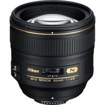 Lente Nikon 85mm F/1.4g Af-s Nikkor Telefoto