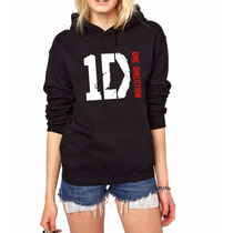 Moletom One Direction Blusa Canguru Capuz Bolso