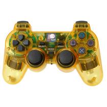 Controle Sem Fio Playstation 2 2.4ghz Dualshock Ps2 Amarelo