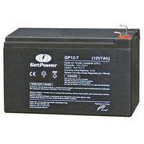 Bateria Selada 12v 7ah Getpower P/ Alarme E Cerca Eletrica