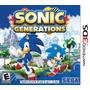 Sonic Generations Para Nintendo 3ds Novo E Lacrado Rcr Games