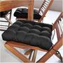 Assento Para Cadeira Futon 40x40 Cm - Preto