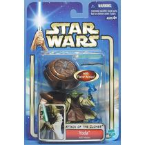 Star Wars Boneco Yoda Attack Of The Clones Hasbro.