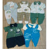 Lote Enxoval 5 Macacão Bebê Menino Para Recém Nascido