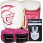 Kit Boxe Muay Thai Pretorian Luva + Protetor Bucal+ Bandagem