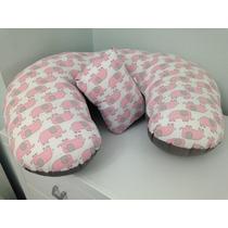 Almofada De Amamentação + Naninha Caramelito - Elefantes
