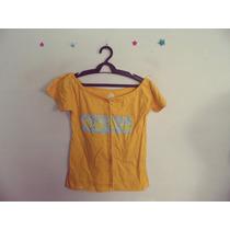 Blusa Feminina Amarela Estampada Ciganinha Cód. 333