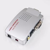 Adaptador Conversor Vídeo Rca S-video Componente Tv Para Vga