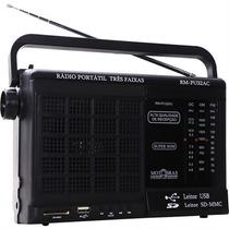 Rádio Portátil Motobras 3 Faixas Entradas Usb E Memory Card
