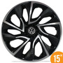 Calota Esportiva 15 Ds4 Black Chrome Vw Fox Polo Golf 5 Furo