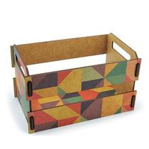 Caixa Organizadora Caixote De Feira Triangulos