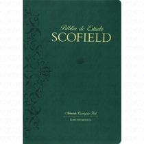 Bíblia De Estudo Scofield Luxo Verde Frete Gratis