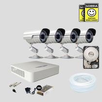 Kit Segurança Dvr Jfl 8 Canais 1 Hd 4 Câmera Sony