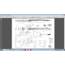 Planta Fender Jaguar Em Pdf Para Impressão (luthier)