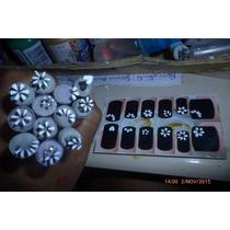 Carimbos P/ Adesivos De Unha Artesanal - Kit C/ 14 + Brinde