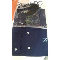 Kit Com 5 Camisa Social Ricardo Almeida Masculina Slim Fit