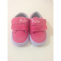 Tênis Polo Infantil Rosa Tam 17. Réplicareplica