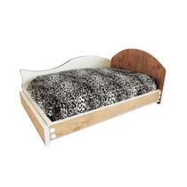 Cama Madeira Cães Gatos Colchão E Travesseiro