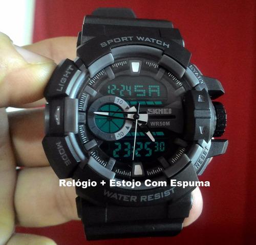 6be94558889 Relógio Masculino Militar S Shock Digital A Prova Dágua 1117. R  120