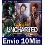 Trilogia Uncharted 1 2 E 3 Ps3 Psn (3 Em 1)
