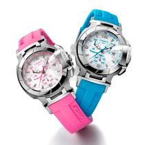 Relógio Feminino Tissot Rosa Azul Relógio T Garantia Frete