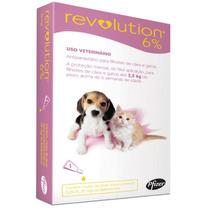 Revolution 15 Mg Filhotes Cães E Gatos Até 2,5 Kg 3 Pipeta