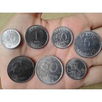 Moedas 1/5/20/50 Centavos Cruzeiros E Cruzados Antigas Usada