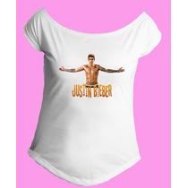 Camiseta Feminina Gola Canoa Justin Bieber Believe 02
