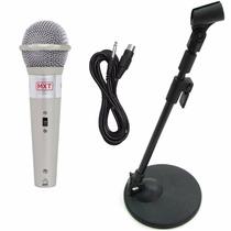 Pedestal Suporte De Mesa + Microfone Mxt M-996 + Cabo P10