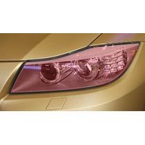 Película Adesivo Rosa P/ Lanterna E Farol Carros E Motos