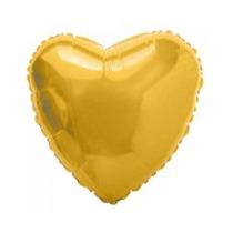 Balão Metalizado Coração Dourado Festa Decoração Bexiga
