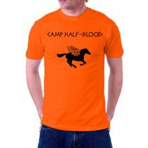 Camiseta Camisa Camp Half Blood Meio Sangue Pierce Jackson