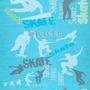 Papel De Parede Skate Esporte Jeans Lavável Viníl 310x58cm
