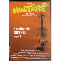 Dvd Multiokê Cd+ Dvd - O Melhor Do Gospel Vol 3 - Novo***