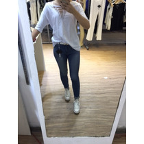 Conjunto Feminina Blusa Manga 3/4 E Calça Jeans,cores Misto