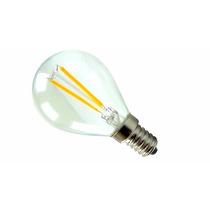 Kit 10 Lâmpada Bulbo Led 2w Filamento E14 Branco Quent 3000k