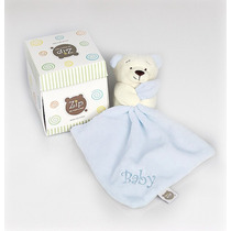 Mini Blanket (naninha) Ursinho Em Plush Azul Zip Toys