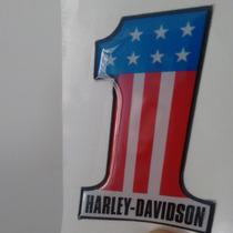Adesivo Resinado Num. 1 Harley Davidson Moto Carro Notebook