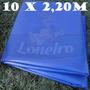 Lona Plástica Azul Royal Tecido Leve 10x2,20 Sem Acabamento