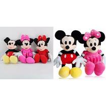 Bonecos Pelucia Mickey E Minnie Disney Original 50cm Minie !