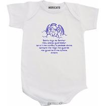 Body De Bebê Ou Camiseta Infantil Oração Do Anjo Da Guarda