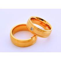 Lindo Par Alianças Ouro 18k Noivado Casamento + Anel Grátis