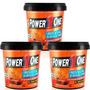 3 Pastas De Amendoim Com Granulado Crocante1kg - Power 1 One